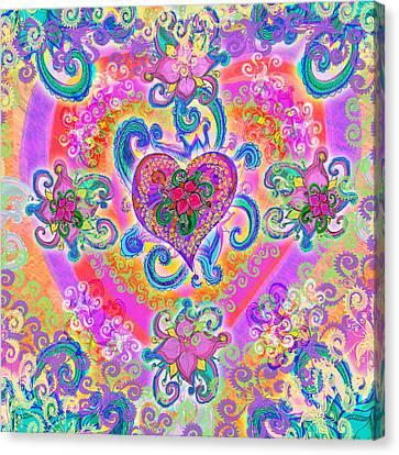 Swirley Heart Variant 1 Canvas Print by Alixandra Mullins