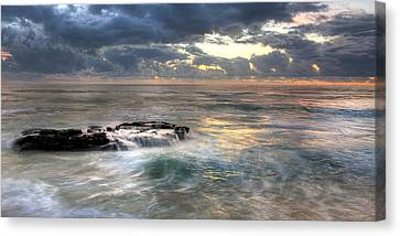 Swirling Seas Canvas Print by Peter Tellone