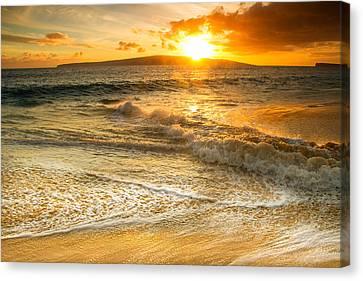 Swirls Of The Ocean Canvas Print by Kunal Mehra