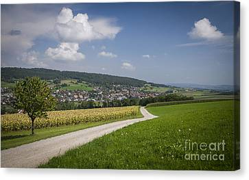 Swiss Country Road Canvas Print by Ning Mosberger-Tang