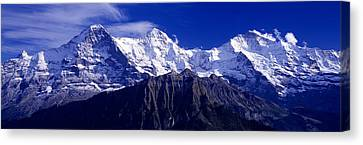 Swiss Mountains, Berner, Oberland Canvas Print by Panoramic Images