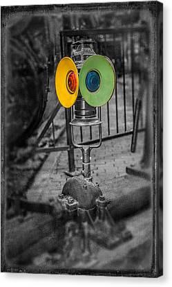 Switching Signal Canvas Print by Paul Freidlund