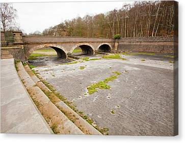 Swithland Reservoir Overflow Canvas Print by Ashley Cooper