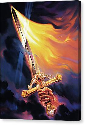 Sword Of The Spirit Canvas Print by Jeff Haynie