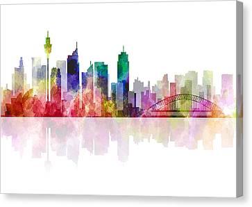 Sydney Australia Skyline 2 Canvas Print by Daniel Hagerman