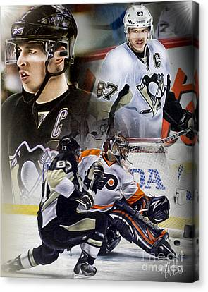 Sydney Crosby Canvas Print by Mike Oulton
