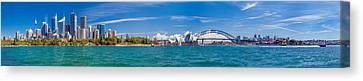 Sydney Harbour Skyline 1 Canvas Print by Az Jackson