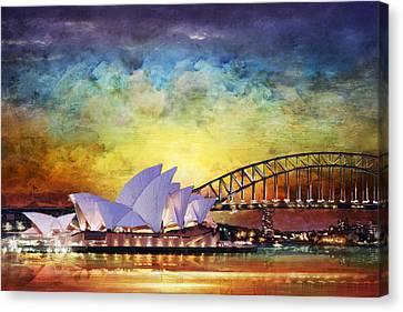 Sydney Opera House Canvas Print by Catf