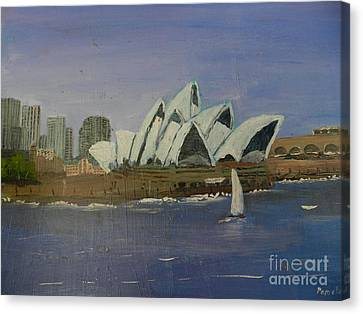 Sydney Opera House Canvas Print by Pamela  Meredith