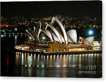 Sydney Opera Canvas Print by Syed Aqueel
