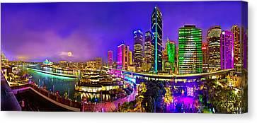 Sydney Vivid Festival Canvas Print by Az Jackson