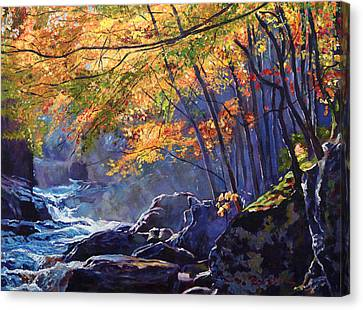 Sylvan Glade Canvas Print by David Lloyd Glover