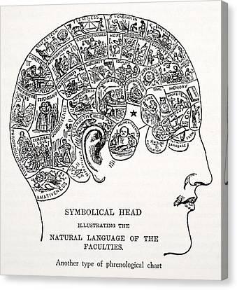 Symbolical Head Canvas Print by English School
