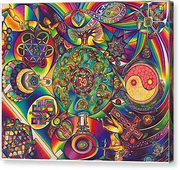 Symbologeo D Canvas Print by DiNo