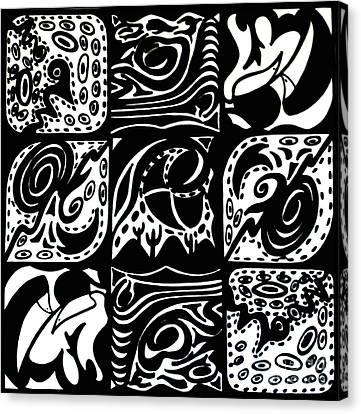 Symmetrical Illusion Abstract Canvas Print by Mukta Gupta
