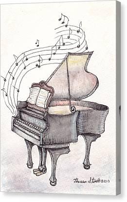 Symphony Canvas Print by Theresa Stinnett