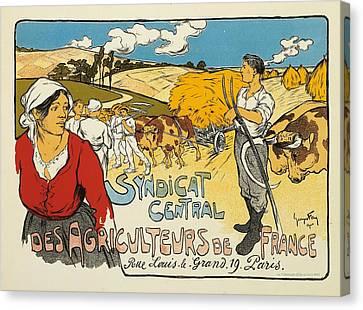 Syndicat Central Des Agriculteurs De France Canvas Print by George Fay