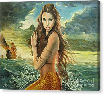 Syrena From Pirates Of The Caribbean Canvas Print by Osi