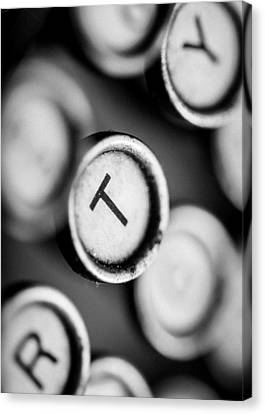 T Is For Typewriter Canvas Print by Jon Woodhams