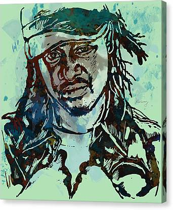 T-pain Faheem Rasheed Najm Stylised Etching Pop Art Poster Canvas Print by Kim Wang