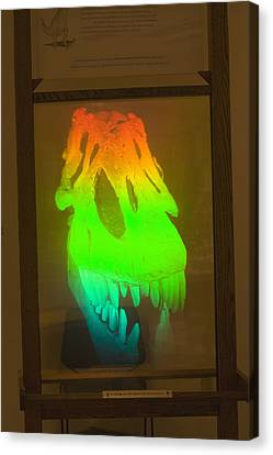 T-rex Hologram Canvas Print by Science Stock Photography
