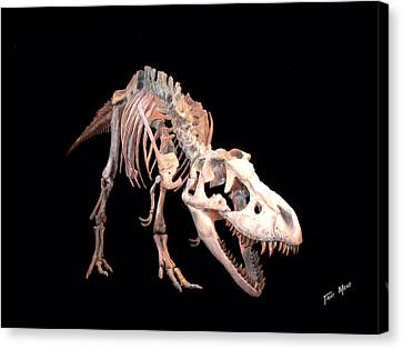 T-rex Canvas Print by Tray Mead