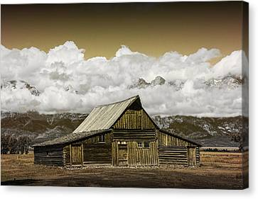 T.a. Moulton Barn In The Grand Tetons Canvas Print by Randall Nyhof