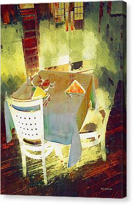 Table At The Fauve Cafe Canvas Print by RC deWinter