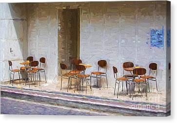 Table For Four Canvas Print by Avalon Fine Art Photography