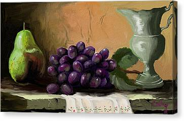Table Grapes Canvas Print by Sandra Aguirre