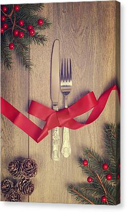 Table Setting Canvas Print by Amanda And Christopher Elwell