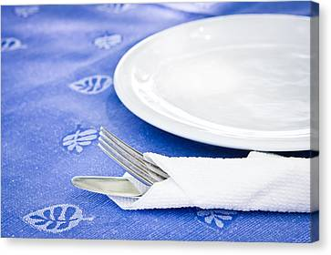 Table Setting Canvas Print by Tom Gowanlock
