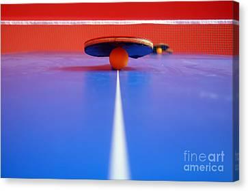 Table Tennis Canvas Print by Michal Bednarek