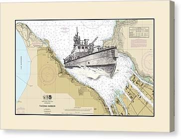 Tacoma Fireboat Canvas Print by Jack Pumphrey