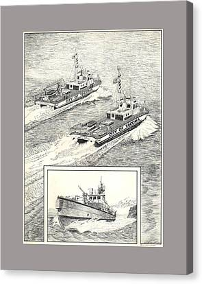 Tacoma Fireboats New And Old Number 1 Canvas Print by Jack Pumphrey