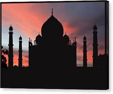 Taj Mahal Silhouette Canvas Print by Kim Andelkovic