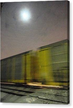 Take A Fast Train Canvas Print by Guy Ricketts