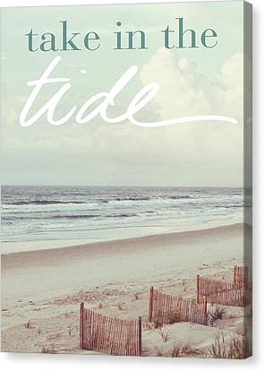 Take In The Tide Canvas Print by Kathy Mansfield