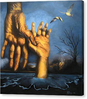 Take My Hand Canvas Print by Andrea Banjac