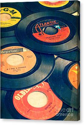 Take Those Old Records Off The Shelf Canvas Print by Edward Fielding