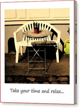 Take Your Time And Relax Canvas Print by Susanne Van Hulst