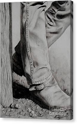 Takin' A Break Canvas Print by Katie Hendrix Long