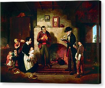 Taking The Census, 1854 Canvas Print by Granger