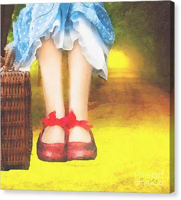 Taking Yellow Path Canvas Print by Mo T