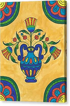 Talavera Flora 2 Canvas Print by Susie WEBER