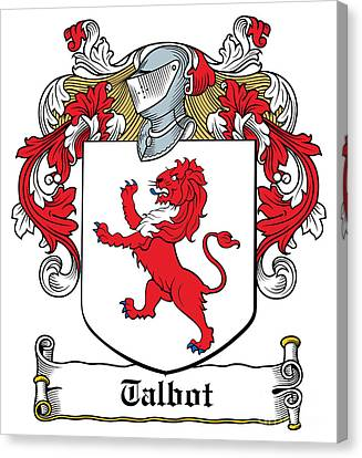 Talbot Coat Of Arms Malahide Ireland Canvas Print by Heraldry