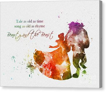 Tale As Old As Time Canvas Print by Rebecca Jenkins