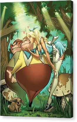 Tales From Wonderland Tweedledee And Tweedledum Canvas Print by Zenescope Entertainment