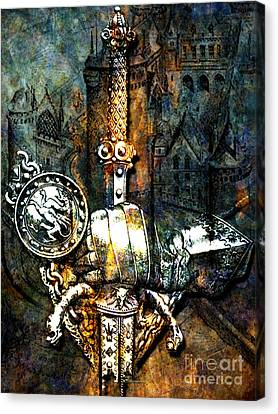 Tales Of Chivalry Canvas Print by Tammera Malicki-Wong