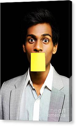 Talkative Forgetful Office Worker Canvas Print by Jorgo Photography - Wall Art Gallery
